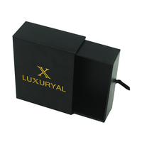 Custom Matt Black Stiff Drawer Packaging Cardboard Box, Wholesale Luxury Paper Gift Box