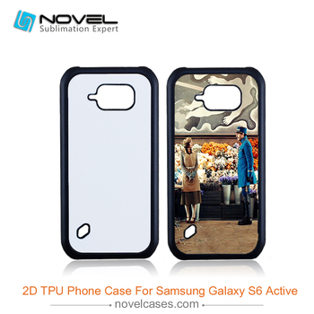 High quality 2D soft rubber sublimation case for samsung S6 Active G890