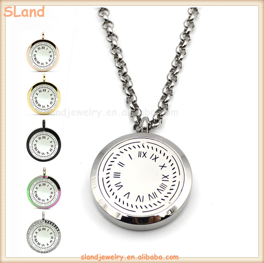 Best Selling 30mm Round Silver Aromatherapy 316l Stainless Steel Essential Oil Diffuser Perfume Locket Necklace with felt Pads