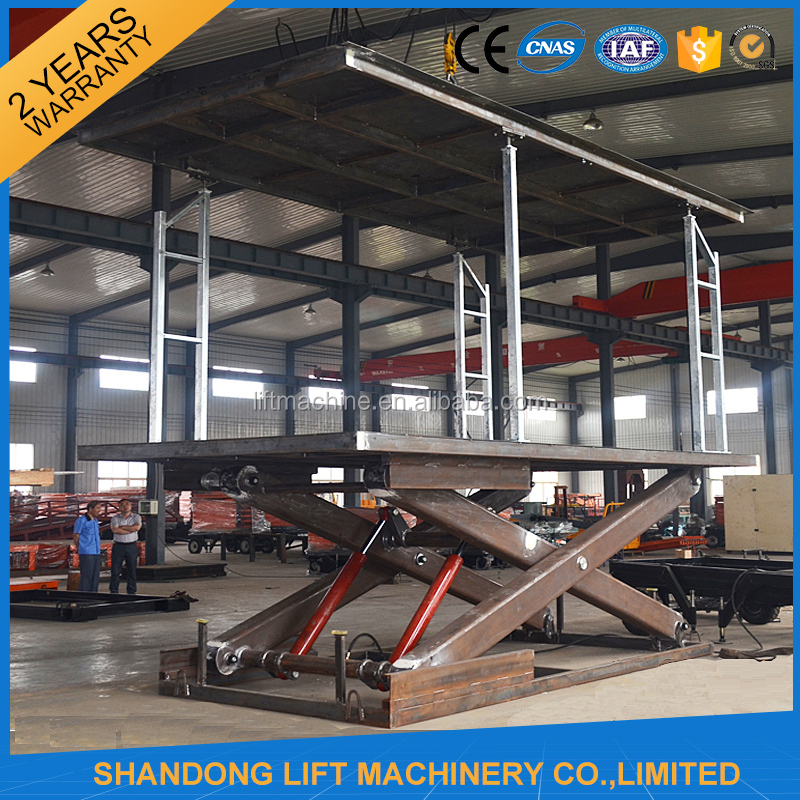 Mechanical Inground Big Scissors Car Double Parking Car Lift