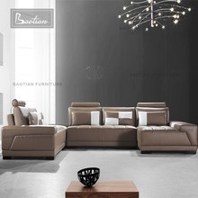 Popular Leather Sofa Contemporary Living room sofa U Shape Sofa design