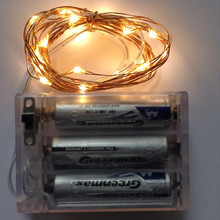 3M 30L Warm White Micro Mini Silver Copper Wired 3AA Battery Powered Led Fairy Starry String Light