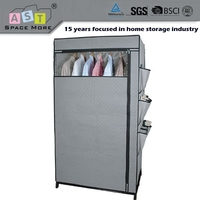 Superior quality low cost canvas storage wardrobe