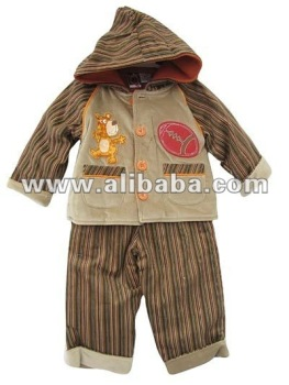New baby clothing set 2 pieces brown