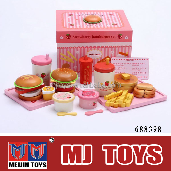 NEW wooden product Cute wooden toy kitchen play set