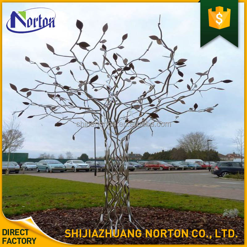 large outdoor decoration stainless steel tree sculpture NT-SSB143