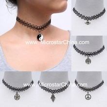Ebay seller latest in stock popular stretch hot tattoo choker necklace