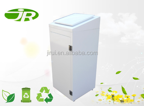 clothing recycling metal bin outdoor donation container