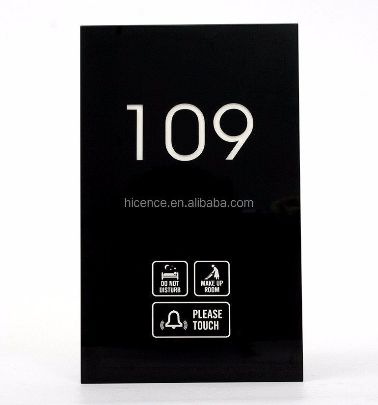 Electronic Hotel Room Door Numbers Signage Plates