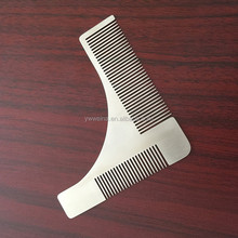 Custom LOGO Stainless Steel Beard Shaping Tool Beard Styling Template,Beard Shaper,Beard Trimming Guide