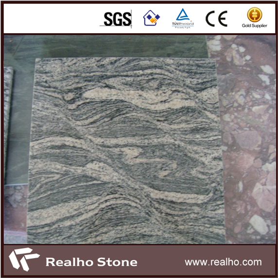 China Sand Juparana Wave Granite Tile For Floor