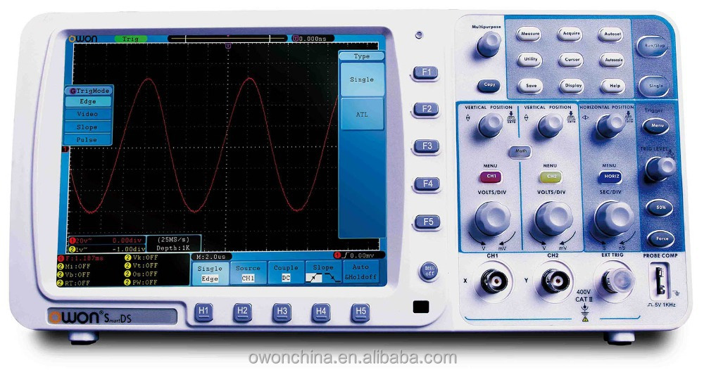 OWON 100MHz 1GS/s Low Cost Digital Storage Oscilloscope (SDS7102)