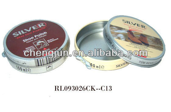 Hot selling South Africa brand of INGLEZA shoe polish tin, shoe polish can,shoe polish packing can SP-012