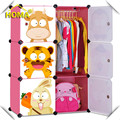 Plastic cartoon wardrobe designs for kids,children