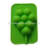 Non-toxic colorful grape shape molds for ice / silicon molds for candy