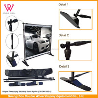 Economic and portable telescopic backdrop stand , adjustable banner stand.
