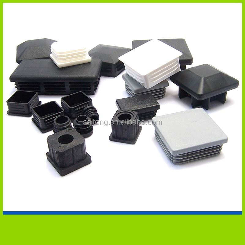 Steel and aluminum tube plastic end cap for square tubing