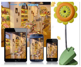 Wireless Baby Monitors connect with mobile phone IP CMOS camera