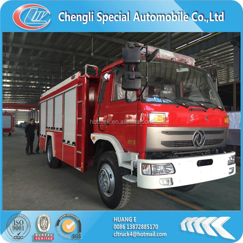factory supply DONGFENG 4*2 5000 litres water tender fire truck