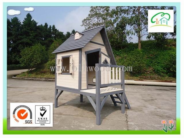 Outdoor Wooden Playhouse with Frame for Kids BF-H502