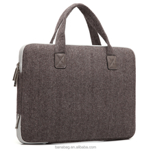 Hot Sale New Fashion Factory Price High Quality Wool Felt Laptop Bag
