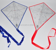teaching drawing DIY kite with colour pens for kids