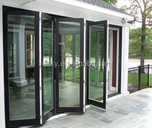 Aluminum exterior glass folding door