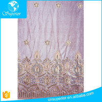 New dubai dress material embroidered lace sequin george fabric 100 polyester wholesale high quality have sample