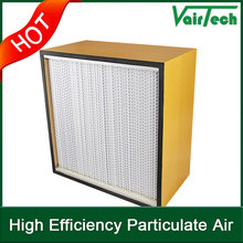 Large dust holding capacity deep pleat air filter for third stage