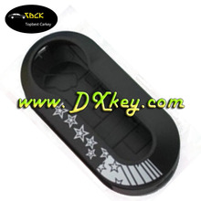 Black Color replacement car key cover for fiat 500 key cover Fiat fake car key