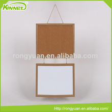 China factory supply Wooden frame decorative combo white board & cork board for sale
