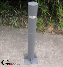 Surface mounted steel parking bollard metal traffic bollard