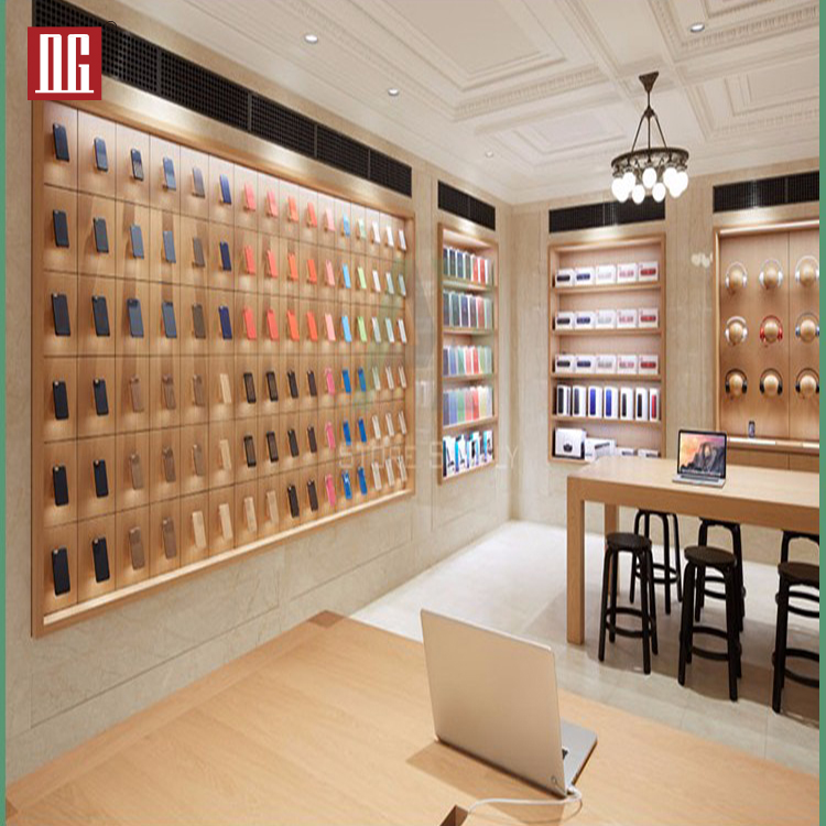 High End Mobile Phone Shop Decoration Design Display Showcase