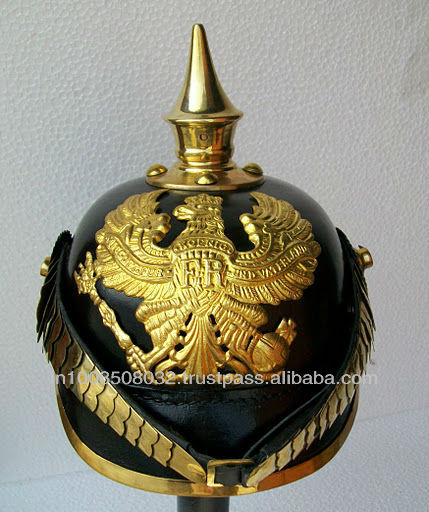 GERMAN PICKELHAUBE LEATHER SPIKE HELMET ARMOUR ARMOR