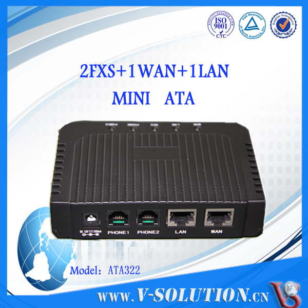 VoIP ATA Gateway 2 fxs fxo VoIP Adapter for call center