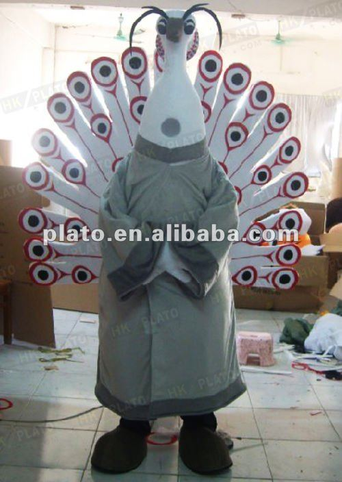 cartoon sexy peacock costume for advertising