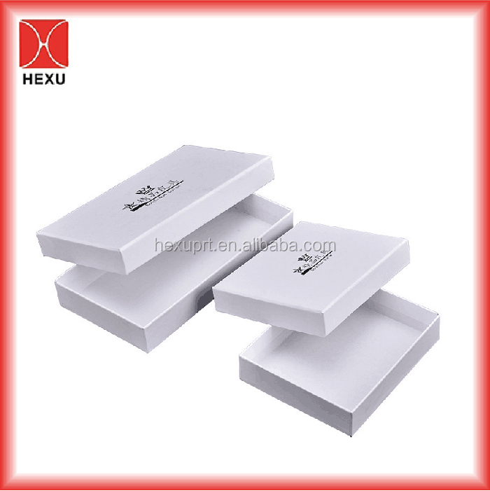 Custom Rectangle Small white square cosmetics Necklace Jewelry packaging Paper Cardboard Gift Boxes