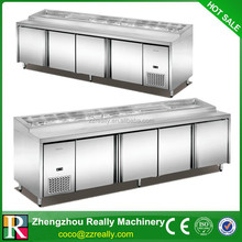 Stainless Steel Salad Bar Prep Table fridge