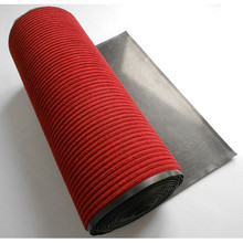 Durable polyester ribbed red carpet