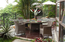 High Class Synthetic Rattan Garden Furniture/ Outdoor PE Wicker dining set