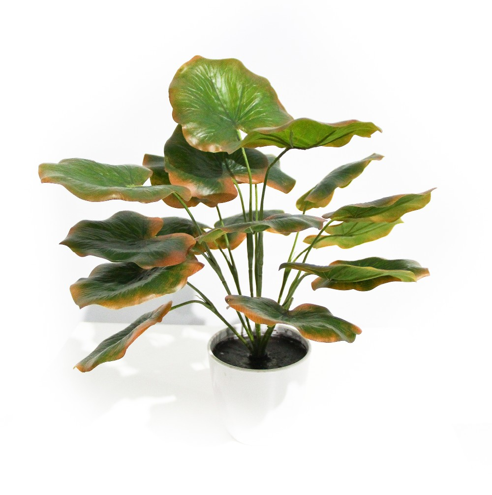 maintenance-free artificial big green leaves for decoration