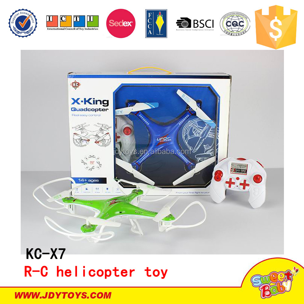 Radio Control KC-X7 Mini Headless Mode 2.4G 4CH 6 Axis RC Quadcopter Helicopter Remote Control Toy