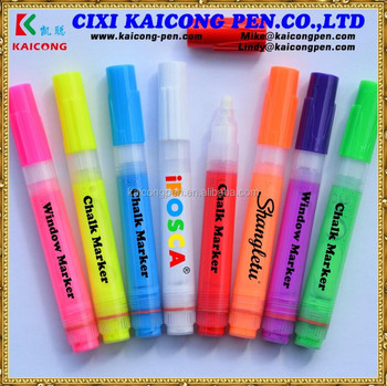 KAICONG 6.5mm,refilled 8g ink,inject ink type pump window marker,Valve Action chalk marker,glass marker