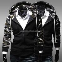 2015 New HOTMen's jackets Slim camouflage collar Wholesale checkout Sweatshirts baseball uniform jacket mens hoodies