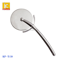 Kitchen tools zinc alloy pizza cutter/slicer round blade pizza wheel cutter