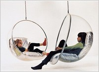 upholstery hanging Bubble Chair rocking acrylic stainless steel cushion