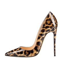 Shoes women heel 2017 ladies leather dress shoe leopard print women high heels shoes
