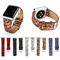 Boling Solid color Glitter Bright Leather Band for Apple Watch 38mm/42mm
