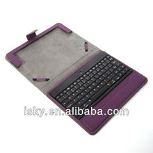 Purple Promotional Wireless Bluetooth Keyboard Folio Leather Case Cover Magnetic Smart Stand for iPad 2 New Apple iPad 3 3rd Gen