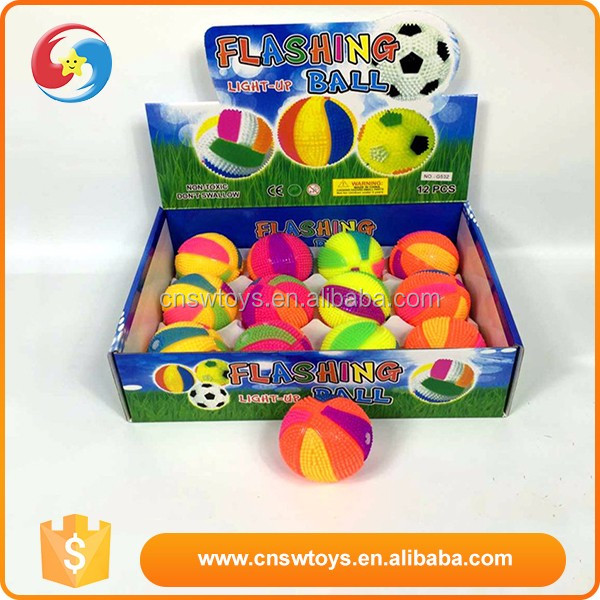 Best selling toy game colourful kids flashing bounce light up ball